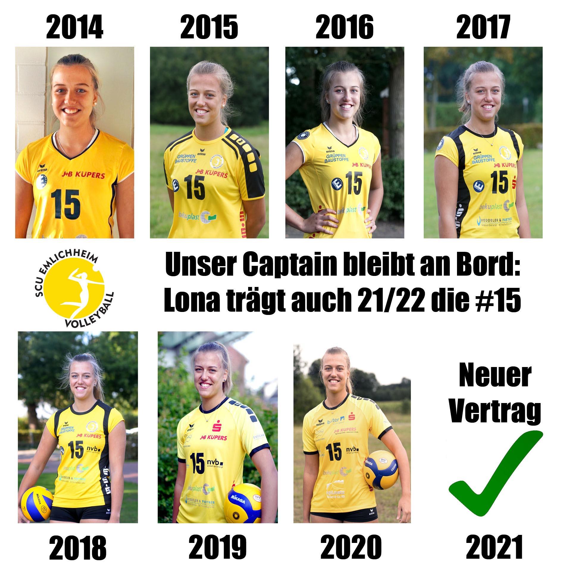 Lona Volkers  greift auch in der Saison 2021/22 für uns an